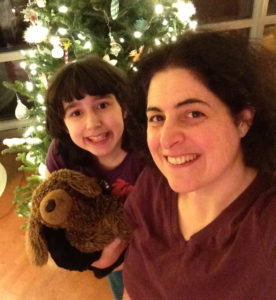 My daughter and me at holidays 2014