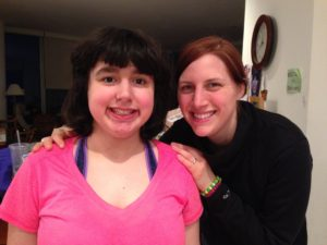 Anna with Son-Rise program participant, Caitlin.